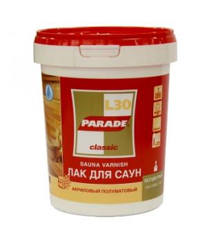Лак Parade Classic L30 0,9 л для бань и саун полуматовый