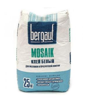 Клей для плитки Mosaik белый 25 кг Bergauf
