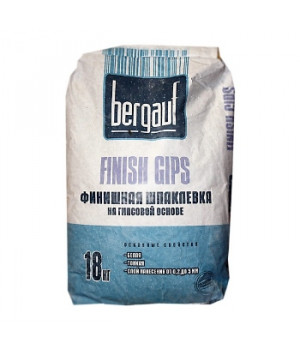 Шпатлевка Finish Gips 18 кг Bergauf финишная