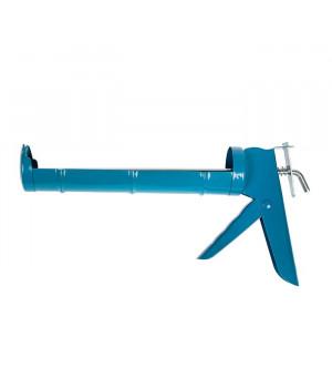 """Пистолет для герметика полукорпусный синий, зубчатый шток """"888"""""""
