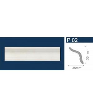 Плинтус полистирол Р02 Aгат бежевый 1м СОЛИД