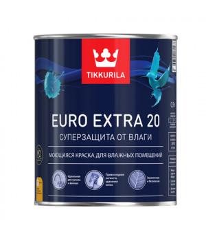 Краска Тиккурила Евро Экстра 20 для кухонь и ванн моющаяся база А 0,9 латексная
