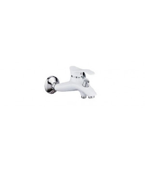 """Смеситель для ванны """"Potato"""" короткий нос P3001-7 (белый)"""