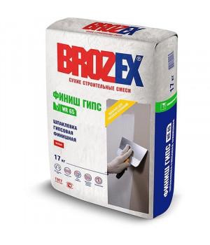 Шпаклевка гипсовая Brozex WR 65 ФИНИШ ГИПС 17 кг финишная белая