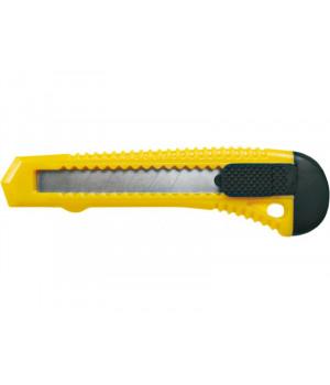 """Нож широкий 25 мм с металлической ведомой, резино-пластиковый корпус, винт для фиксации, лезвие 0,7 мм """"888"""""""