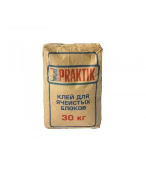 Кладочная смесь Praktik 30 кг для блоков из ячеистого бетона Bergauf
