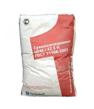 Цемент Сухой Лог 50кг ЦЕМ I 42,5Н (ПЦ-500 Д0) красный мешок