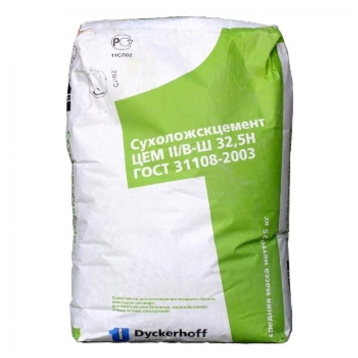 Цемент Сухой Лог 25кг ЦЕМ II/В-Ш 32,5Н