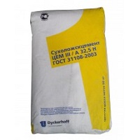 Цемент Сухой Лог 50кг ЦЕМ III А32.5Н жетый мешок