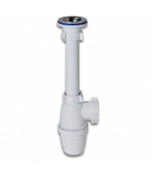 Сифон бутылочный для умывальника 1 1/4 х 40, малый корпус, с удлиненным патрубком, А3205, ORIO