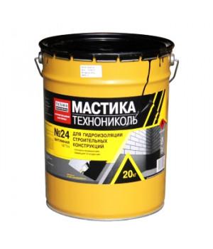 Мастика гидроизоляционная МГТН №24 20 кг битумная