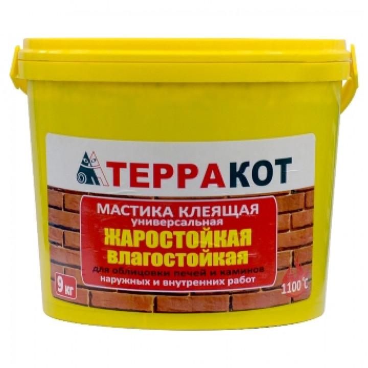 Мастика Терракот, жаростойкая 9 кг