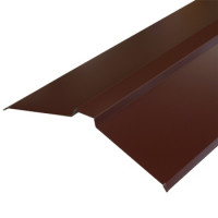Конек плоский 150х150х2000 мм шоколад (RAL-8017)