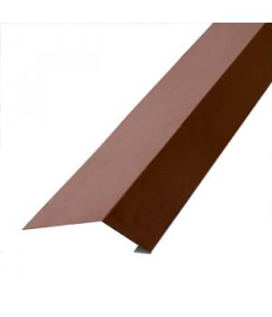 Карнизная планка 2000х100х69 мм шоколад (RAL-8017)