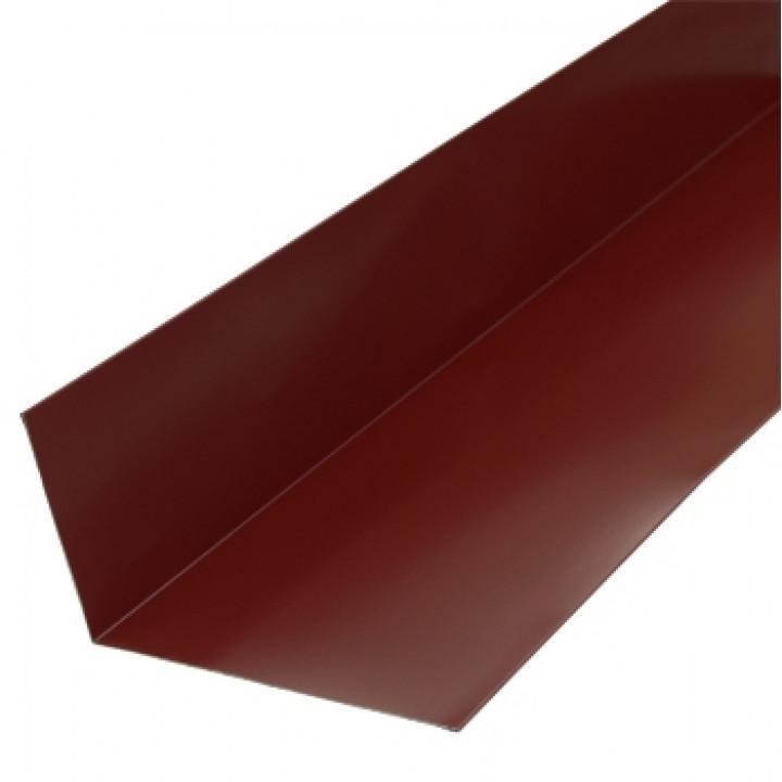 Планка примыкания верхняя 250х147х2000 мм красное вино (RAL-3005)