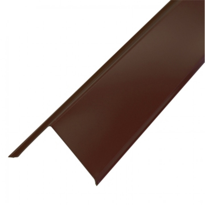 Торцевая планка 95х120х2000 мм шоколад (RAL-8017)
