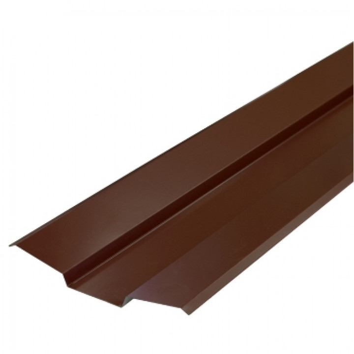 Ендова верхняя 76х76х2000 мм шоколад (RAL-8017)