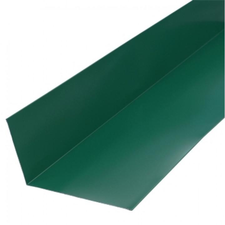 Планка примыкания верхняя 250х147х2000 мм зеленый мох (RAL-6005)