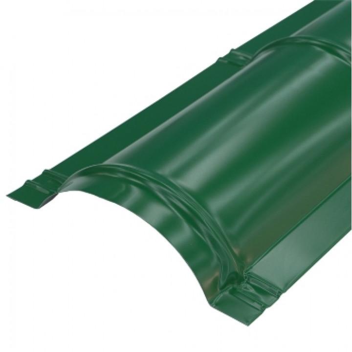 Конек круглый 2000х110 мм красное зеленый мох (RAL-6005)