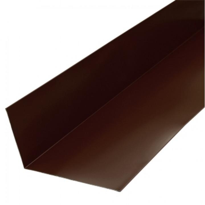 Планка примыкания верхняя 250х147х2000 мм шоколад (RAL-8017)