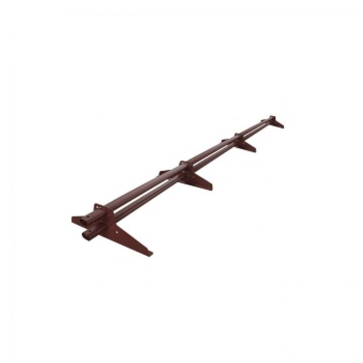 Снегозадержатель трубчатый 3 м коричневый (RAL-8017)