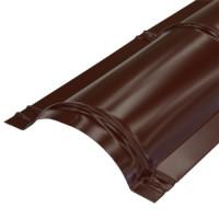 Конек круглый 2000х110 мм красное шоколад (RAL-8017)