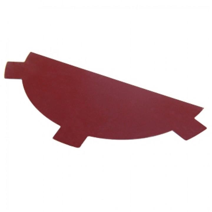 Заглушка конька красное вино (RAL-3005)