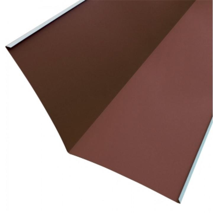 Ендова нижняя 76х76х2000 мм шоколад (RAL-8017)