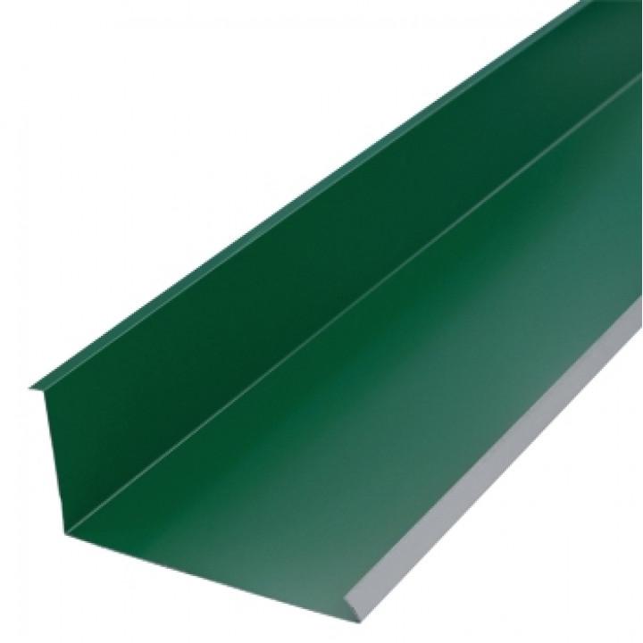 Планка примыкания нижняя 2000х250х122 мм зеленый мох (RAL-6005)