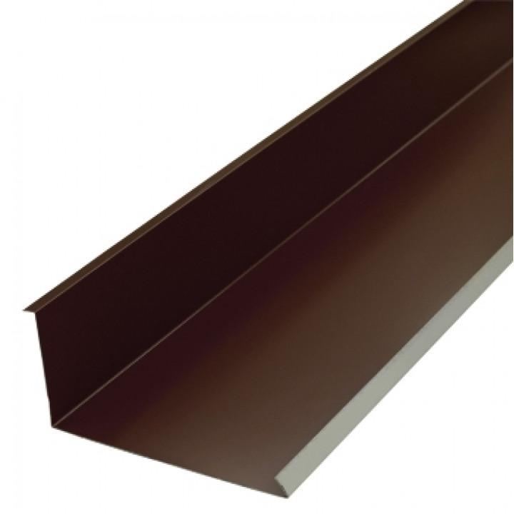Планка примыкания нижняя 250х122х2000 мм шоколад (RAL-8017)
