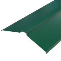 Конек плоский 150х150х2000 мм зеленый мох (RAL-6005)