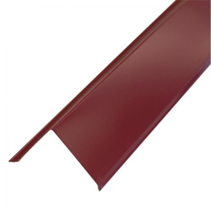 Торцевая планка 95х120х2000 мм красное вино (RAL-3005)