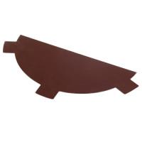 Заглушка конька шоколад (RAL-8017)