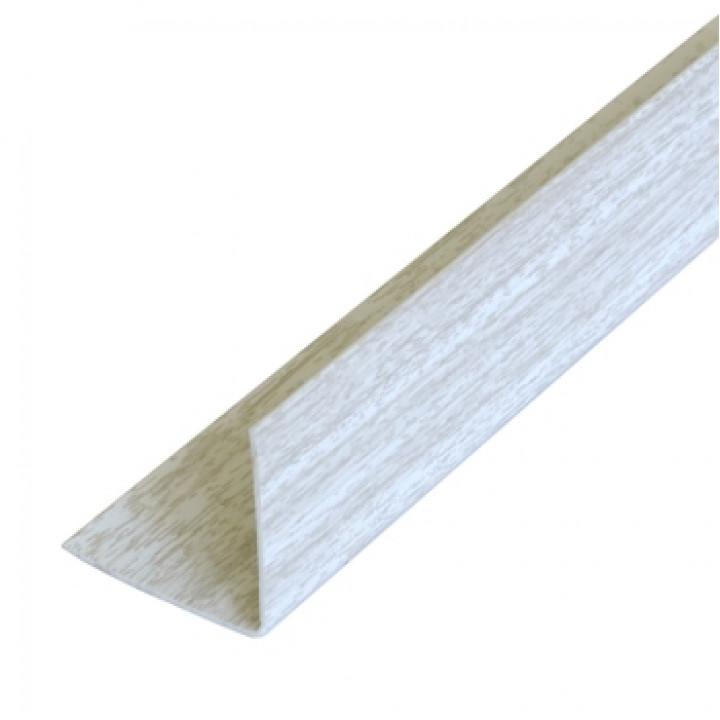 Уголок ПВХ, белый ясень, 30х30х2700 мм