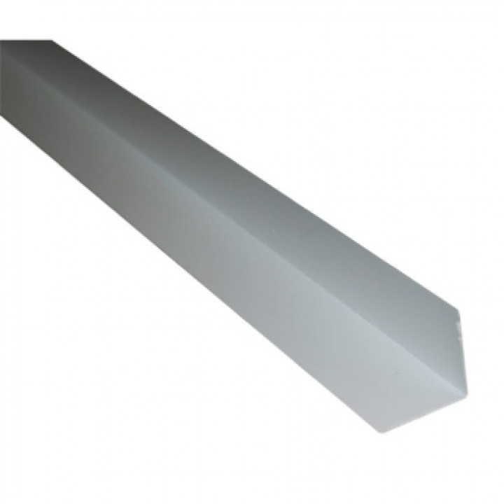 Уголок ПВХ белый, 2700х15х15мм