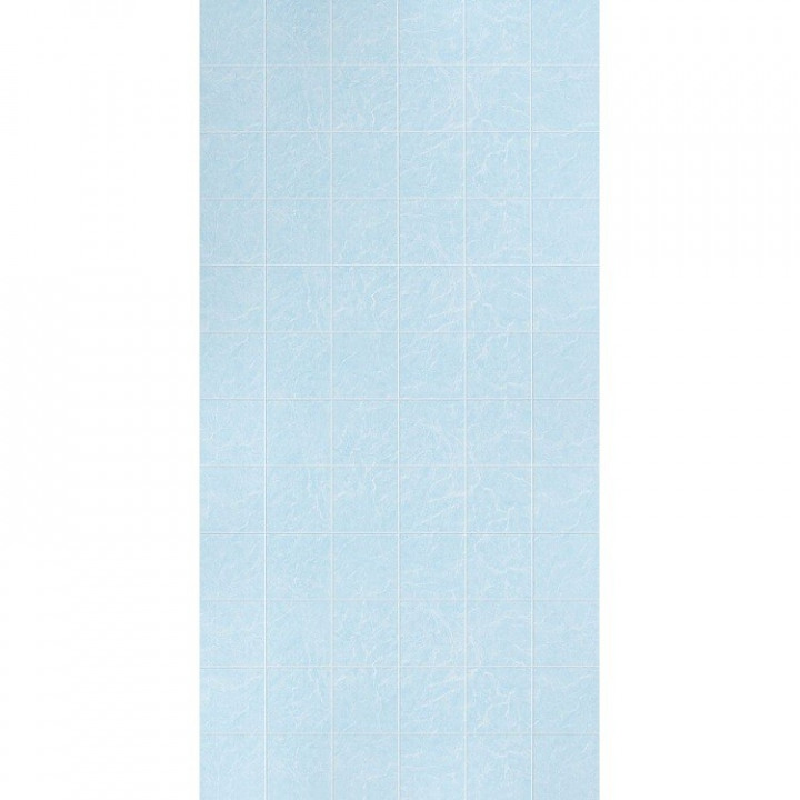 Панель стеновая МДФ 2440х1220х3,2 мм кафель голубой (15х20)