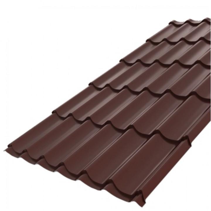 Металлочерепица 2950х1190x0,5 мм Монтеррей шоколад (RAL-8017)