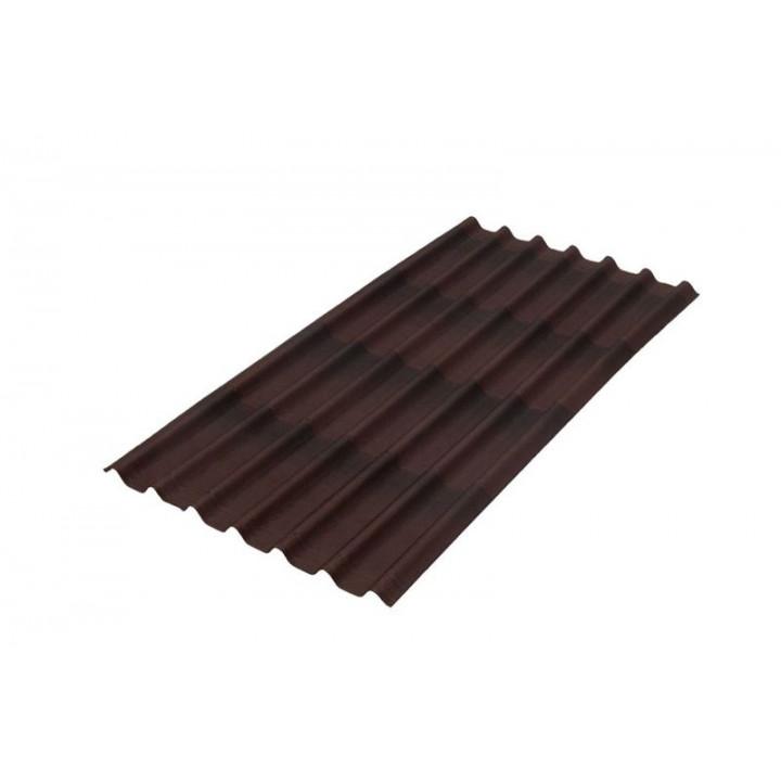 Черепица 1950х960 мм Ондулин коричневый