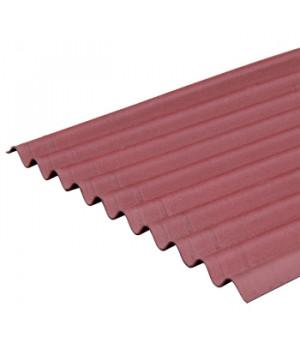 Лист Ондулин SMART 1950х950 мм красный