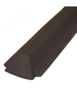 Торцевой конек Ондувилла 1060х175 мм коричневый