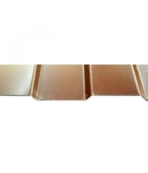 Профнастил С-8 2000x1200х0,45 мм шоколад (RAL-8017)