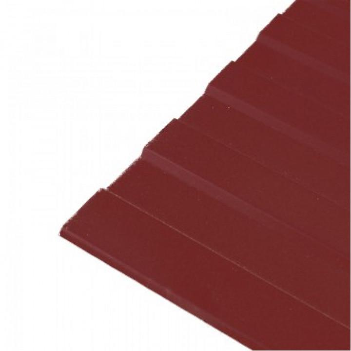 Профнастил МП-20 2000х1150x0,45 мм красно-коричневый (RAL-3005)