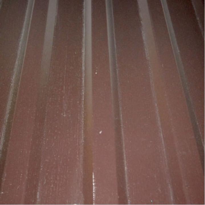 Профнастил МП-20 2000х1150x0,45 мм шоколадно-коричневый (RAL-8017)