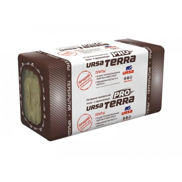 Минераловатная теплоизоляция URSA TERRA 34PN PRO (1250х610х100мм)х5