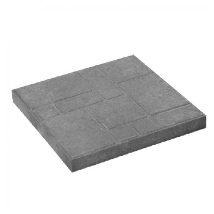 Плитка тротуарная 330х330х20 мм полимерпесчаная серая