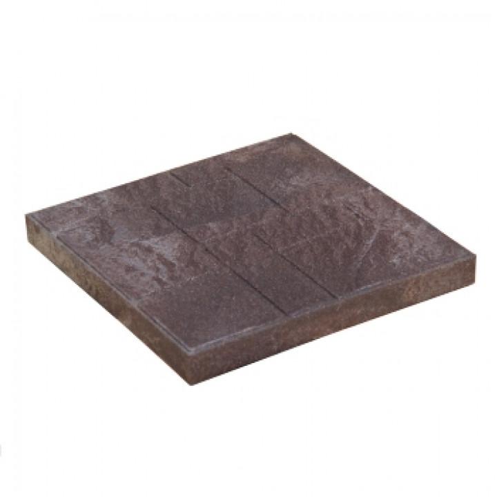 Плитка тротуарная 330х330х35 мм полимерпесчаная коричневая
