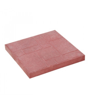 Плитка тротуарная 330х330х35 мм полимерпесчаная красная
