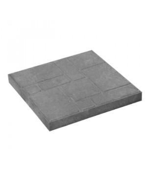 Плитка тротуарная 330х330х35 мм полимерпесчаная серая