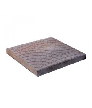 Плитка тротуарная 300х300х30 мм Колодец коричневая