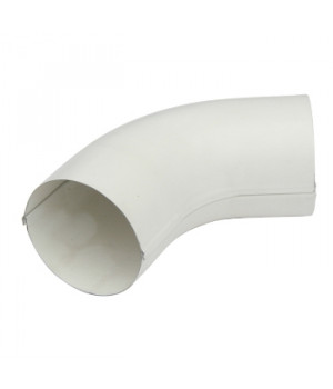 Колено трубы 90х0,5 мм 60 гр. белый (RAL 9010)